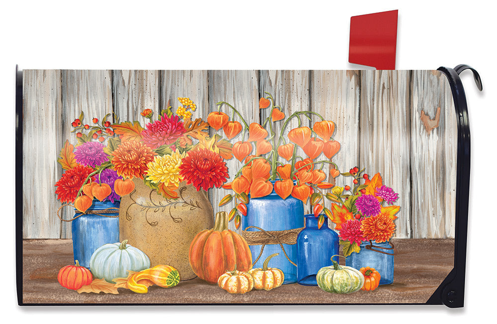 Briarwood Lane Fall Mason Jars Floral Large Mailbox Cover