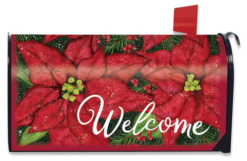 Briarwood Lane Holiday Poinsettia Mailbox Cover