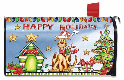 Briarwood Lane Happy Holidays Dog Mailbox Cover