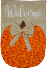 Load image into Gallery viewer, Briarwood Lane Autumn Pumpkins Burlap Garden Flag