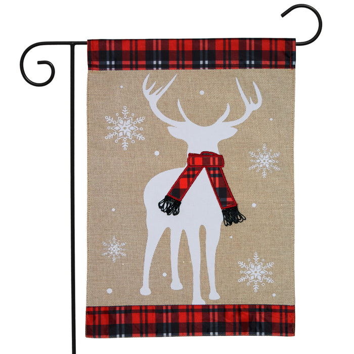 Briarwood Lane Winter Deer Burlap Garden Flag