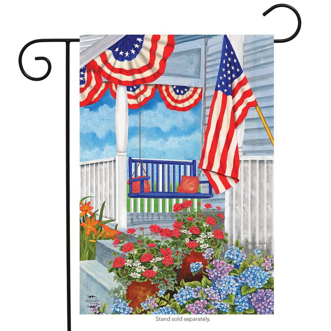 BRIARWOOD LANE PATRIOTIC PORCH GARDEN FLAG