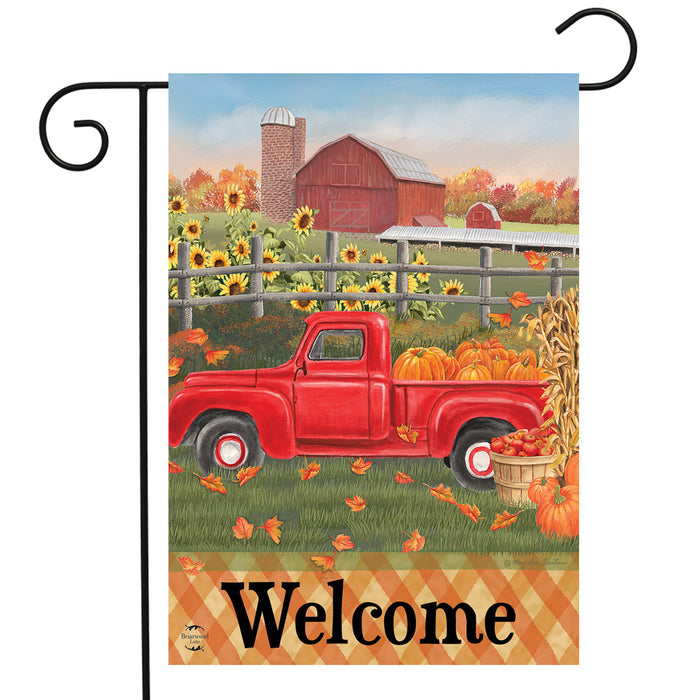 Briarwood Lane Fall Farm Welcome Garden Flag