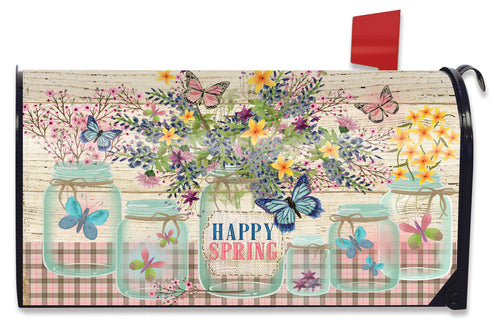 Briarwood Lane Happy Spring Mason Jar Mailbox Cover