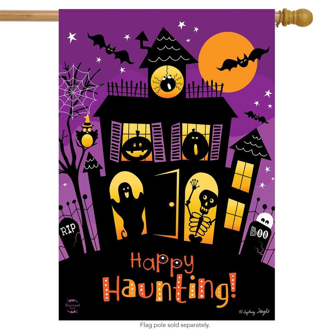 Briarwood Lane Happy Haunting House Flag