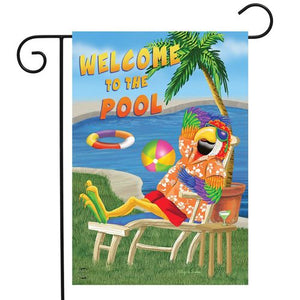 BRIARWOOD WELCOME TO THE POOL GARDEN FLAG