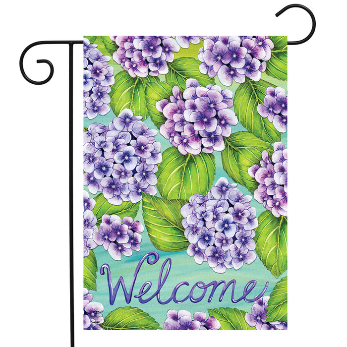 Briarwood Lane Purple Hydrangeas Garden Flag