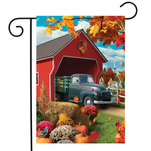 Briarwood Lane Harvest Bridge Garden Flag