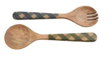Mud Pie Check Salad Servers
