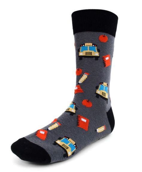 Parquet Men's Back to School Novelty Socks