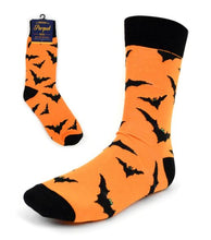 Load image into Gallery viewer, Parquet Men's Halloween Bats Novelty Socks