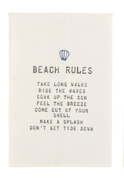 Load image into Gallery viewer, Mud Pie Beach Rules Towels