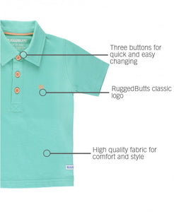RuggedButts Turquoise Polo Shirt