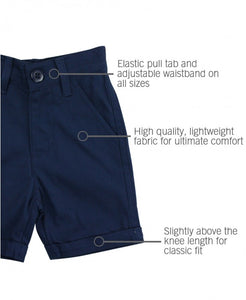 RuggedButts Navy Cuffed Chino Shorts