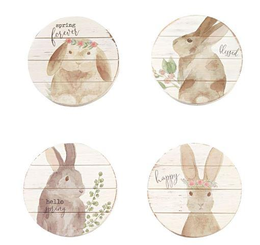 Mud Pie Bunny Coaster Set