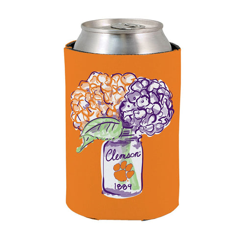 PALMETTO SHIRT CO. CLEMSON FLORAL KOOZIE
