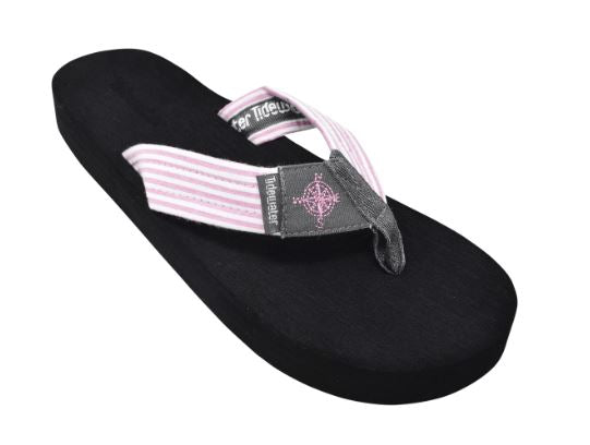 Tidewater Gray Compass Boardwalk Flip Flops