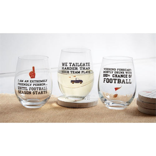 Mud Pie Tailgate Wine Glasses
