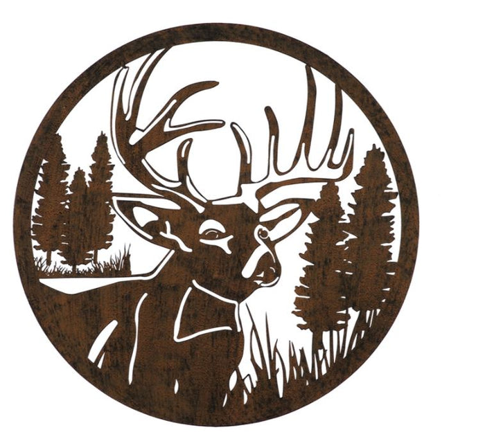 Evergreen Lasercut Deer Outdoor Metal Wall Decor