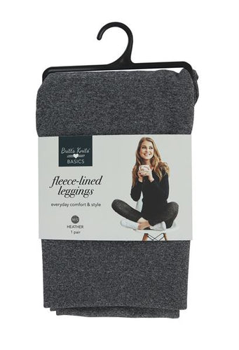 Brits Knits Gray Fleece Leggings