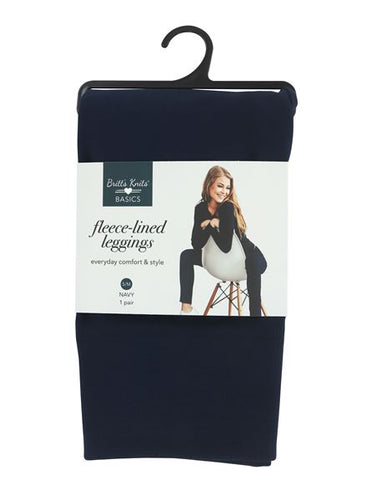 Brits Knits Navy Fleece Leggings