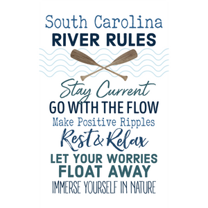 P. Graham Dunn South Carolina River Rules Wooden Pallet Decor