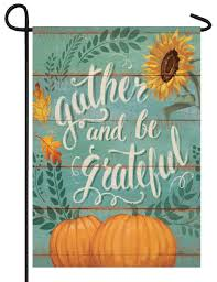 Custom Decor Gather & Grateful Garden Flag