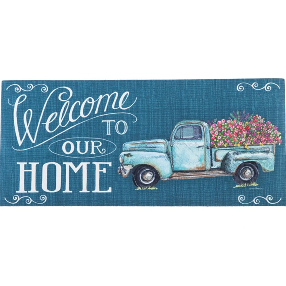 EVERGREEN FLORAL TRUCK SASSAFRAS SWITCH MAT
