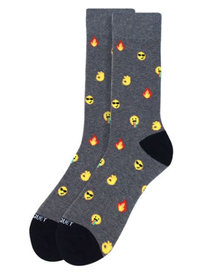 Parquet Men's Emoji Novelty Socks