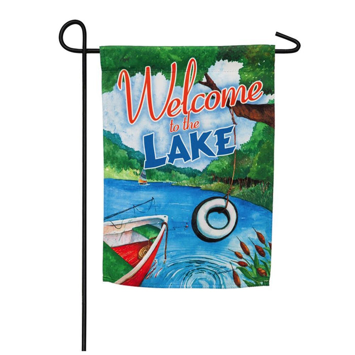 EVERGREEN WELCOME TO LAKE GARDEN FLAG
