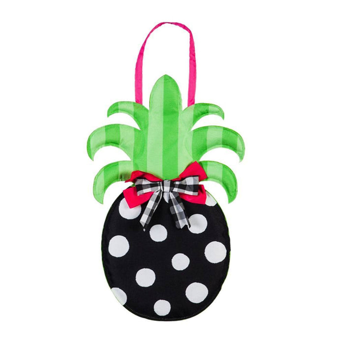 EVERGREEN SP20 POLKA PINEAPPLE DOOR DECOR