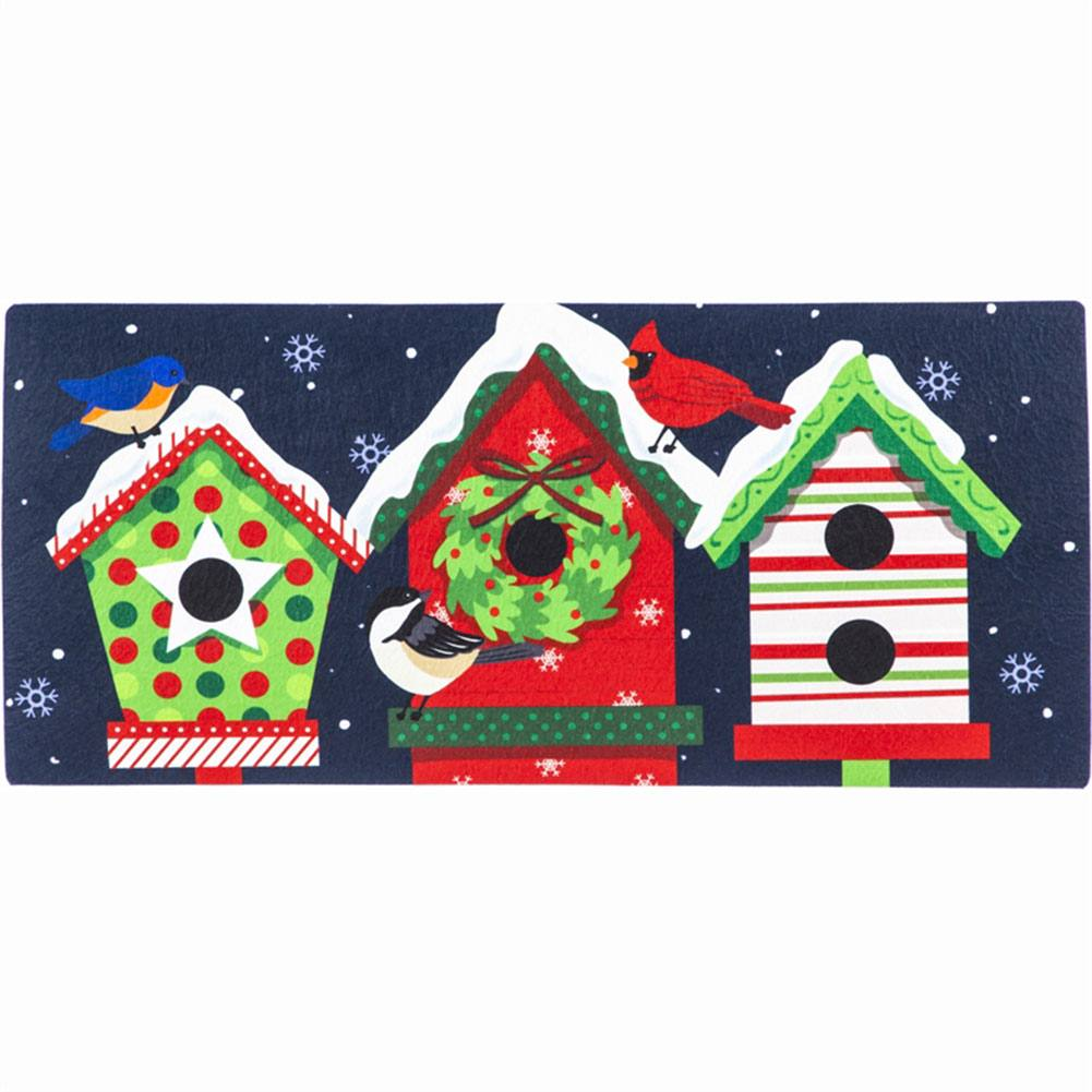 Evergreen Holiday Cheer Birdhouse Trio Sassafras Switch Mat