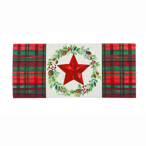 Evergreen Christmas Greens Wreath Sassafras Switch Mat