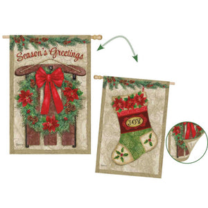 EVERGREEN VINTAGE HOLIDAY HOUSE FLAG
