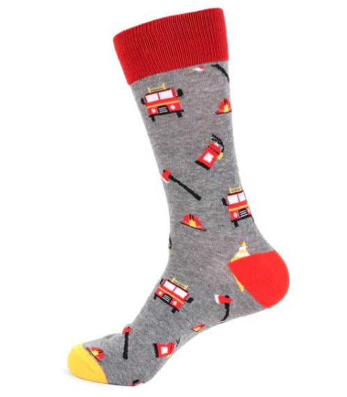 Parquet Men's Firefighter Novelty Socks