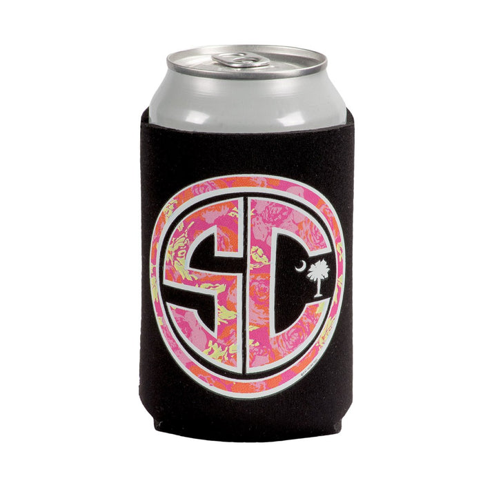 Palmetto Shirt Co. Floral Monogram Koozie