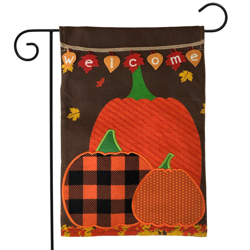 Briarwood Lane Welcome Pumpkins Burlap Garden Flag