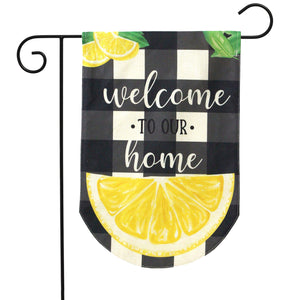 Briarwood Lane Welcome To Our Home Burlap Garden Flag