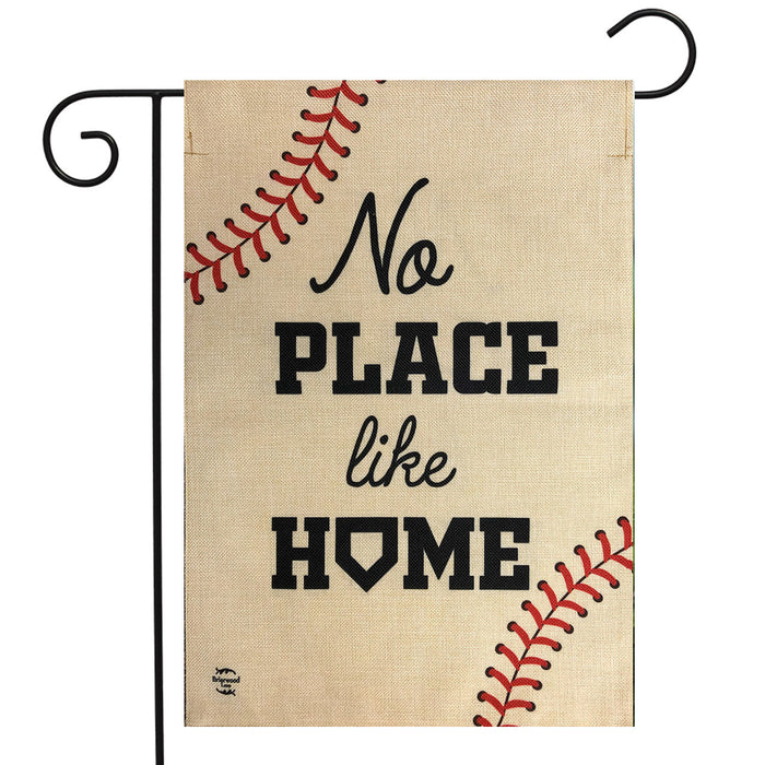 Briarwood Lane No Place Like home Baseball Burlap Garden Flag