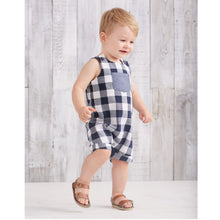 Load image into Gallery viewer, MUD PIE GINGHAM OVERALLS