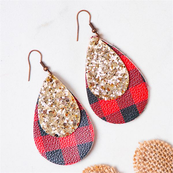 Southern Grace Checking You Out Red Earrings