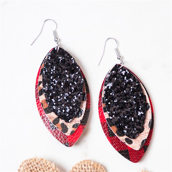 Southern Grace All In One Layered Lather Earrings