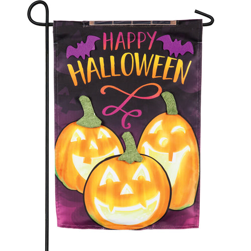 Evergreen Happy Halloween Solar LED Garden Flag