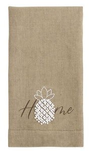 MUD PIE PINEAPPLE FRENCH KNOT TOWELS