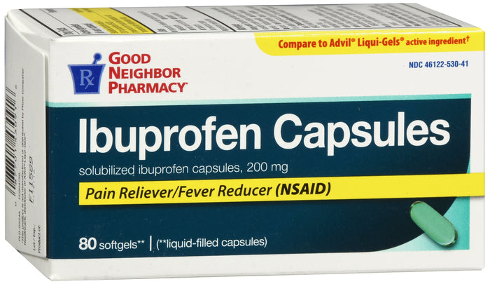 GOOD NEIGHBOR PHARMACY IBUPROFEN LIQUID CAPSULES 200 MG 80 SOFTGELS