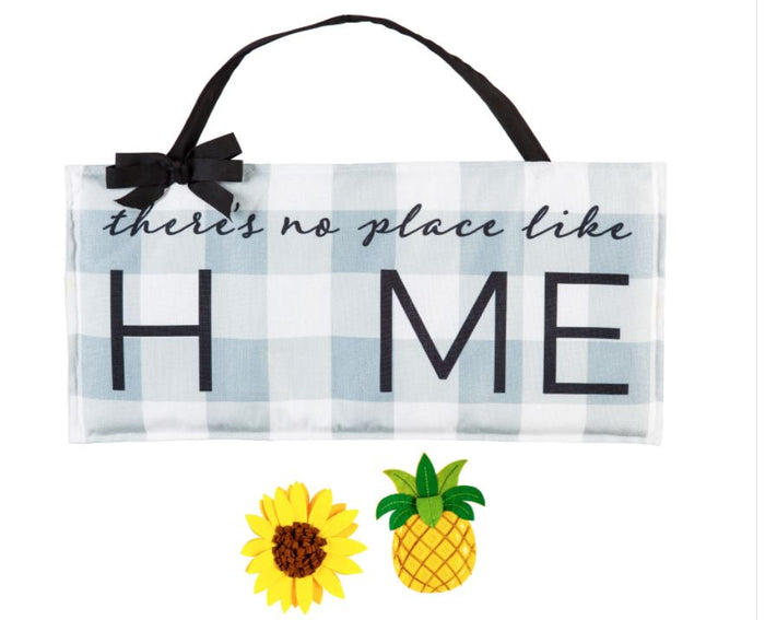 Evergreen Interchangeable No Place Like Home Door Decor