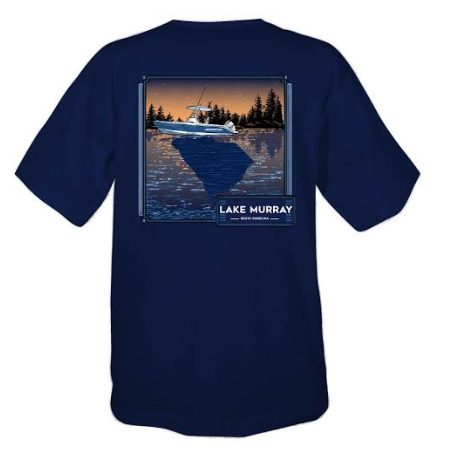 Lake Murray South Carolina Reflections Short Sleeve T-shirt