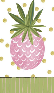 EVERGREEN PINK PINEAPPLE GUEST TOWEL