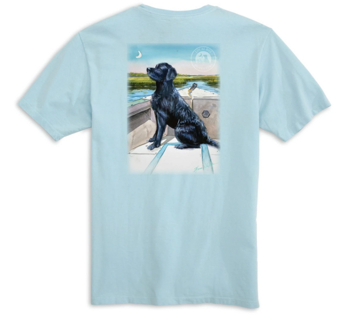 Local Boy Outfitters Lab Aboard T-Shirt in Chambray