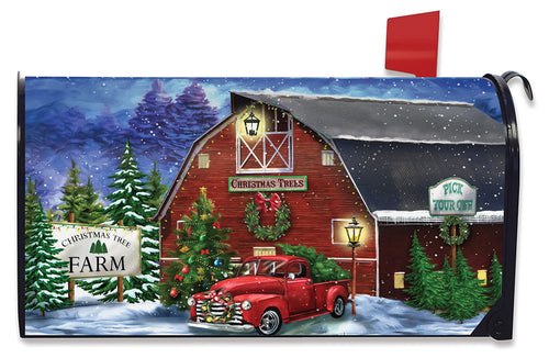 Briarwood Lane Christmas Tree Farm Large Mailbox Cover